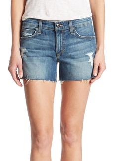 Joe's Jeans Joe's Rami Raw Hem Distressed Denim Shorts