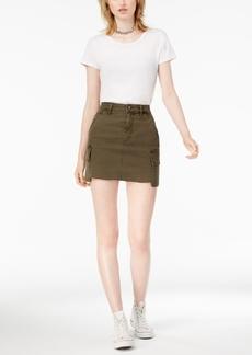 Joe's Jeans Raw-Hem Denim Cargo Skirt