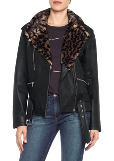 Joe's Riley Leather Biker Jacket
