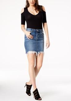 Joe's Jeans Joe's Ripped High-Low Denim Pencil Skirt