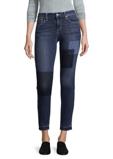 Skinny Patch Ankle Jeans