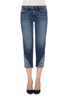 Joe's Smith Embroidered Appliqué Crop Jeans (Nixie)