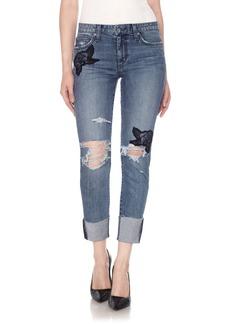 Joe's Smith High Waist Crop Slim Boyfriend Jeans (Shanti)