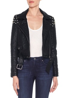 Joe's Jeans Joe's Taylor Embellished Faux Leather Moto Jacket