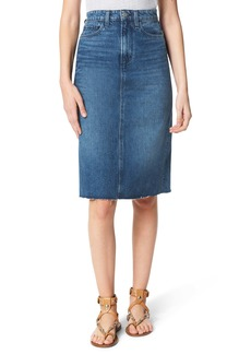 Joe's Jeans Joe's The A-Line Raw Hem Denim Pencil Skirt