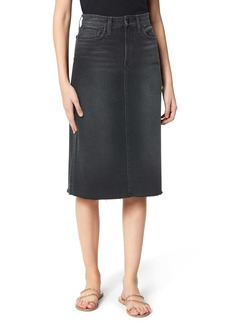 Joe's Jeans Joe's The A-Line Raw Hem Denim Pencil Skirt (Nemisis)