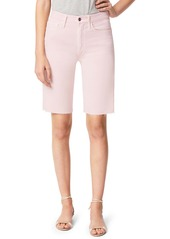 Joe's Jeans Joe's The Bermuda High Waist Raw Hem Denim Shorts (Rose Smoke)