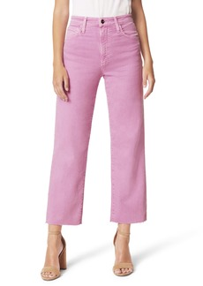 Joe's Jeans Joe's The Blake High Waist Raw Hem Crop Wide Leg Jeans (Meadow Mauve)