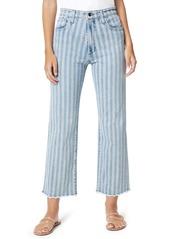 Joe's Jeans Joe's The Blake Stripe Fray Hem Crop Jeans (Two Tone)
