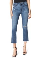 Joe's Jeans Joe's The Callie Distressed High Waist Fray Hem Crop Flare Jeans (Kickflip)