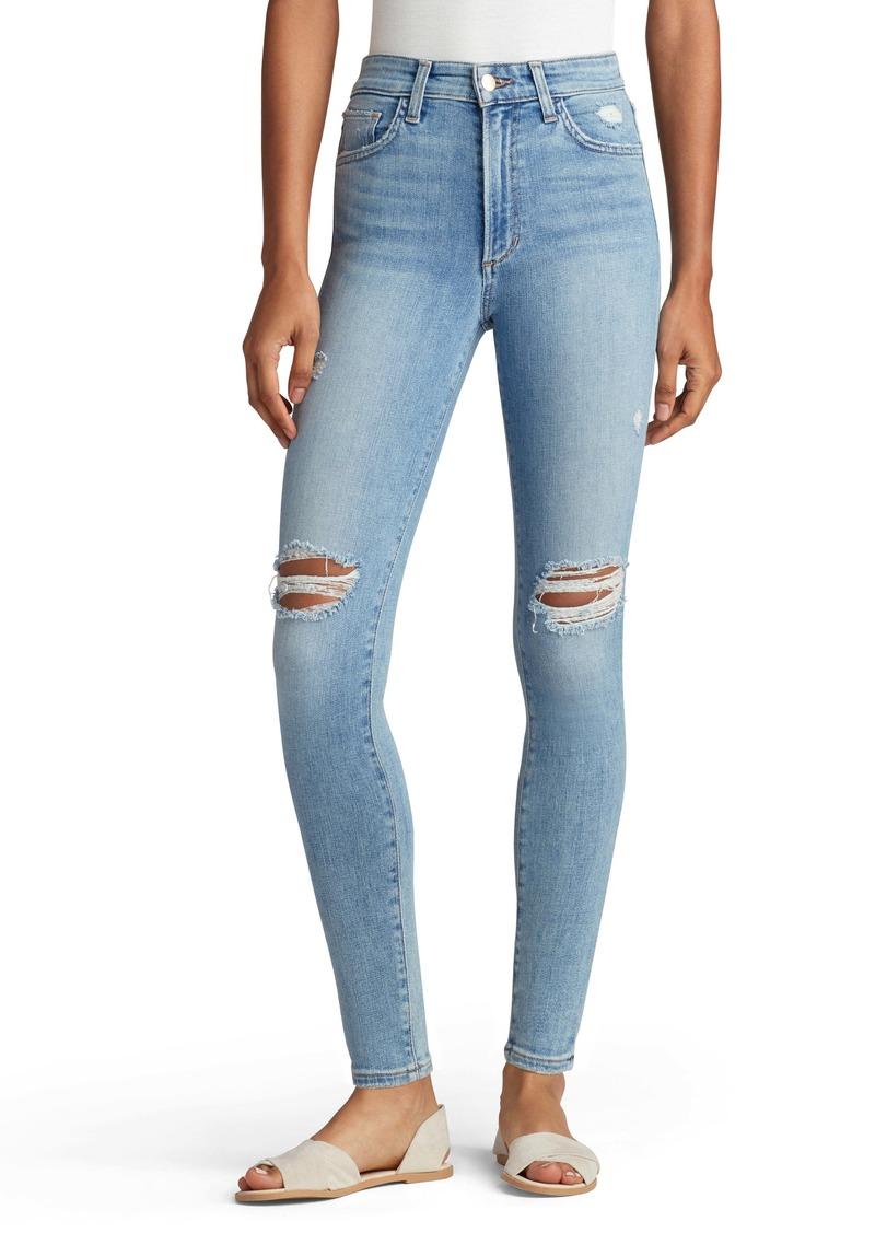 Joe's Jeans Joe's The Charlie Distressed High Waist Ankle Skinny Jeans (Wall Flower)