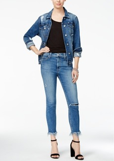 Joe's The Charlie High Rise Crop Cotton Skinny Jeans