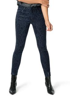 Joe's Jeans Joe's The Charlie High Waist Ankle Skinny Jeans (Indigo Coated Python)