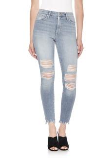 Joe's The Charlie High Waist Ripped Ankle Skinny Jeans (Dannika)