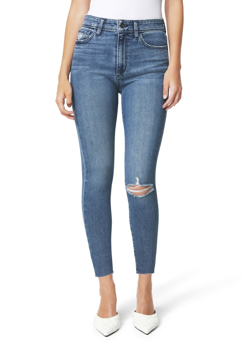 Joe's Jeans Joe's The Charlie Ripped High Waist Raw Hem Crop Skinny Jeans (Kickflip)