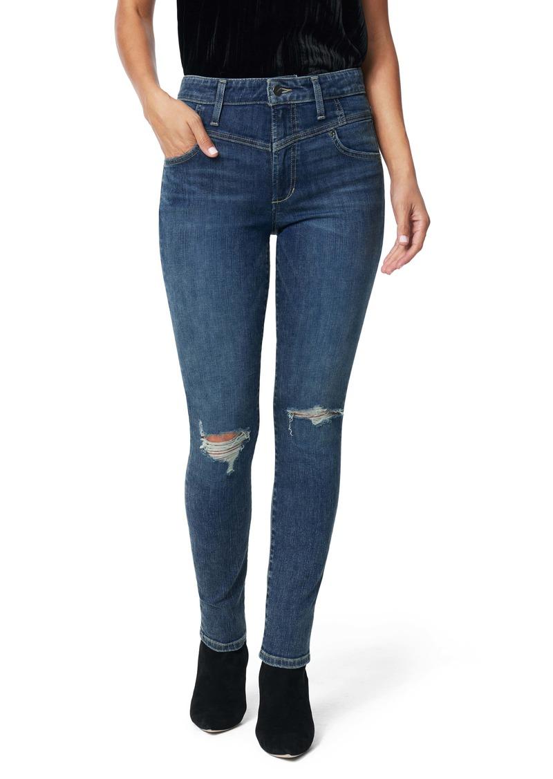 Joe's Jeans Joe's The Charlie Shredded High Waist Skinny Jeans (Mustang)