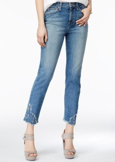 Joe's The Debbie Embroidered Cropped Jeans