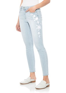 Joe's The Icon Embroidered Ankle Skinny Jeans (Alyce)