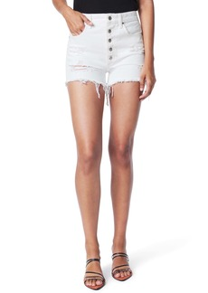Joe's Jeans Joe's The Kinsley High Waist Destroyed Cutoff Denim Shorts (Daylily)