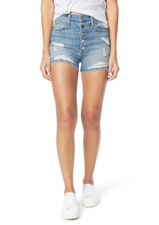 Joe's Jeans Joe's The Kinsley High Waist Ripped Cutoff Denim Shorts (Tulip)
