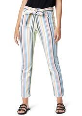 Joe's Jeans Joe's The Luna Belted High Waist Ankle Cigarette Jeans (Ambrosio Stripe)