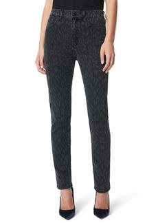 Joe's Jeans Joe's The Milla High Waist Ankle Straight Leg Jeans (Black Laser Cheetah)