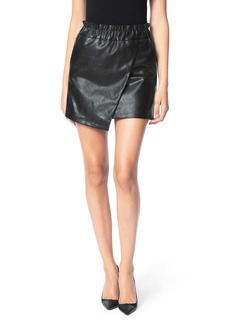 Joe's Jeans Joe's Wrap Front Faux Leather Miniskirt