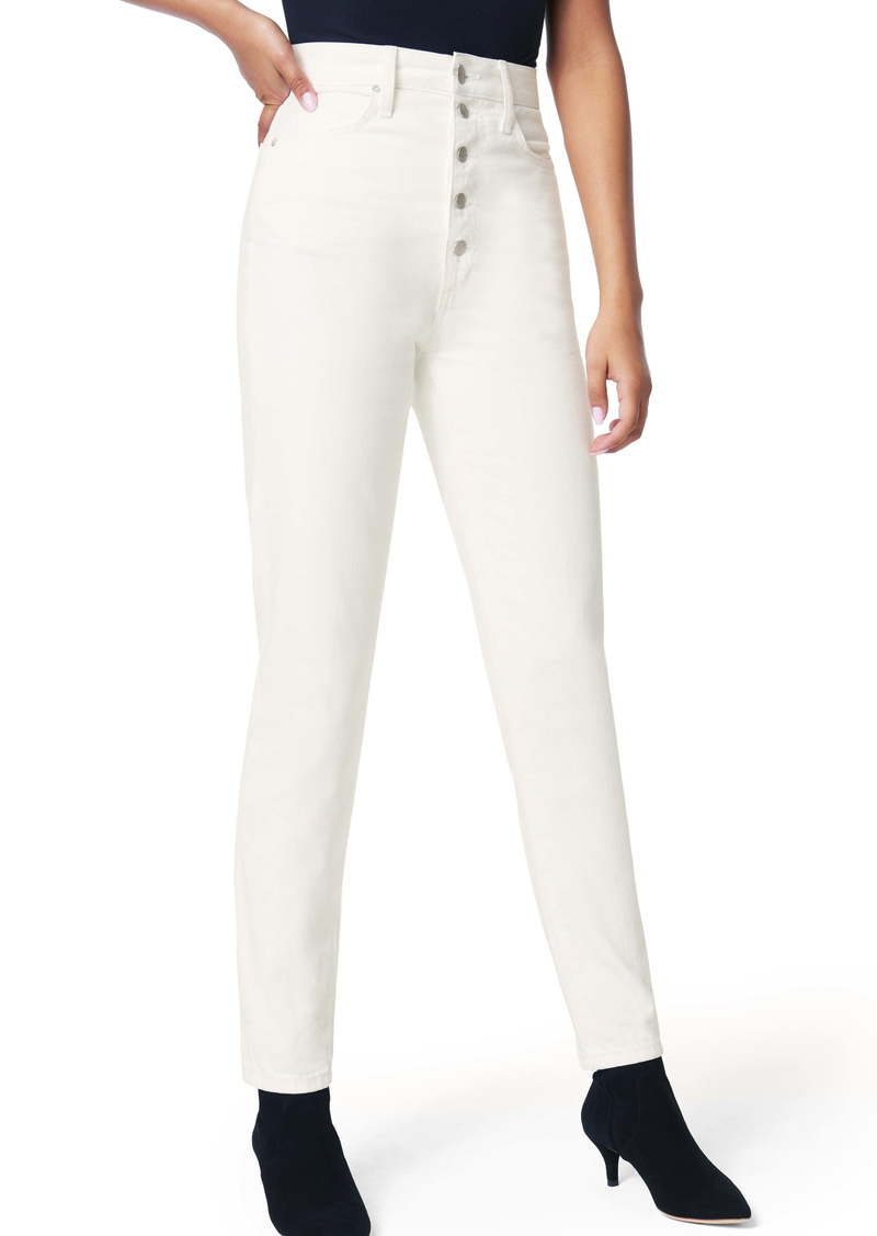 Joe's Jeans Joe's x WeWoreWhat The Danielle High Waist Slim Jeans (Bone)