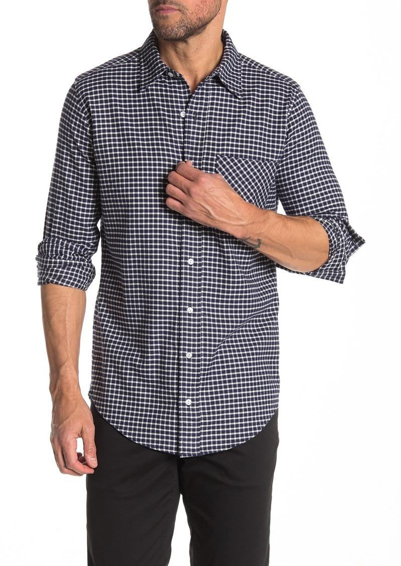 Joe's Jeans Joshua Plaid Flannel Trim Fit Shirt