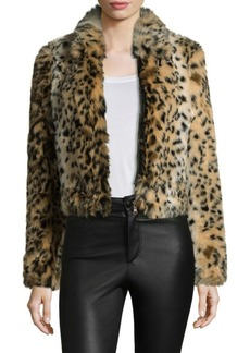 Joe's Jeans Kate Faux Fur Leopard Bomber Jacket