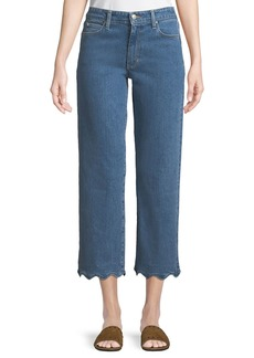 Joe's Jeans Kenzy Wavy-Hem Straight-Leg Jeans
