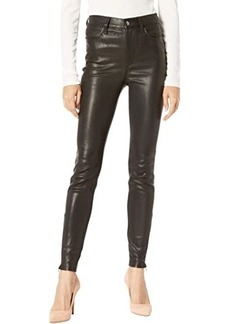 Joe's Jeans Leather Charlie Ankle in Black
