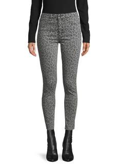 Joe's Jeans Leopard-Print High-Rise Skinny Jeans