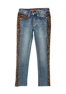 Joe's Jeans Leopard Print Side Panel Skinny Jeans (Big Girls)