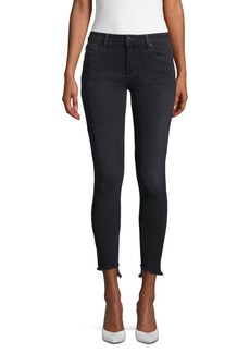Joe's Jeans Lucia Curvy Fringed Skinny Ankle Jeans