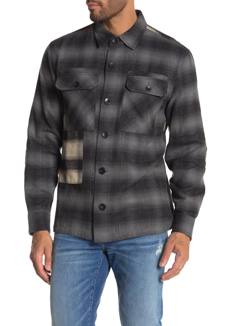 Joe's Jeans Mei Mixed Plaid Trim Fit Shirt
