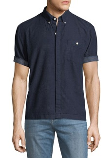 Joe's Jeans Men's Harvey League Short-Sleeve Denim Shirt