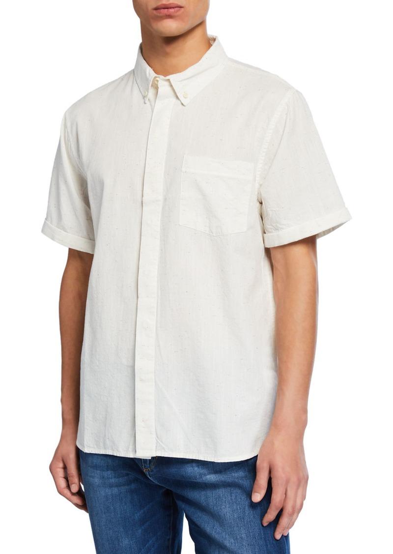 Joe's Jeans Men's John Short-Sleeve Button-Down Woven Shirt