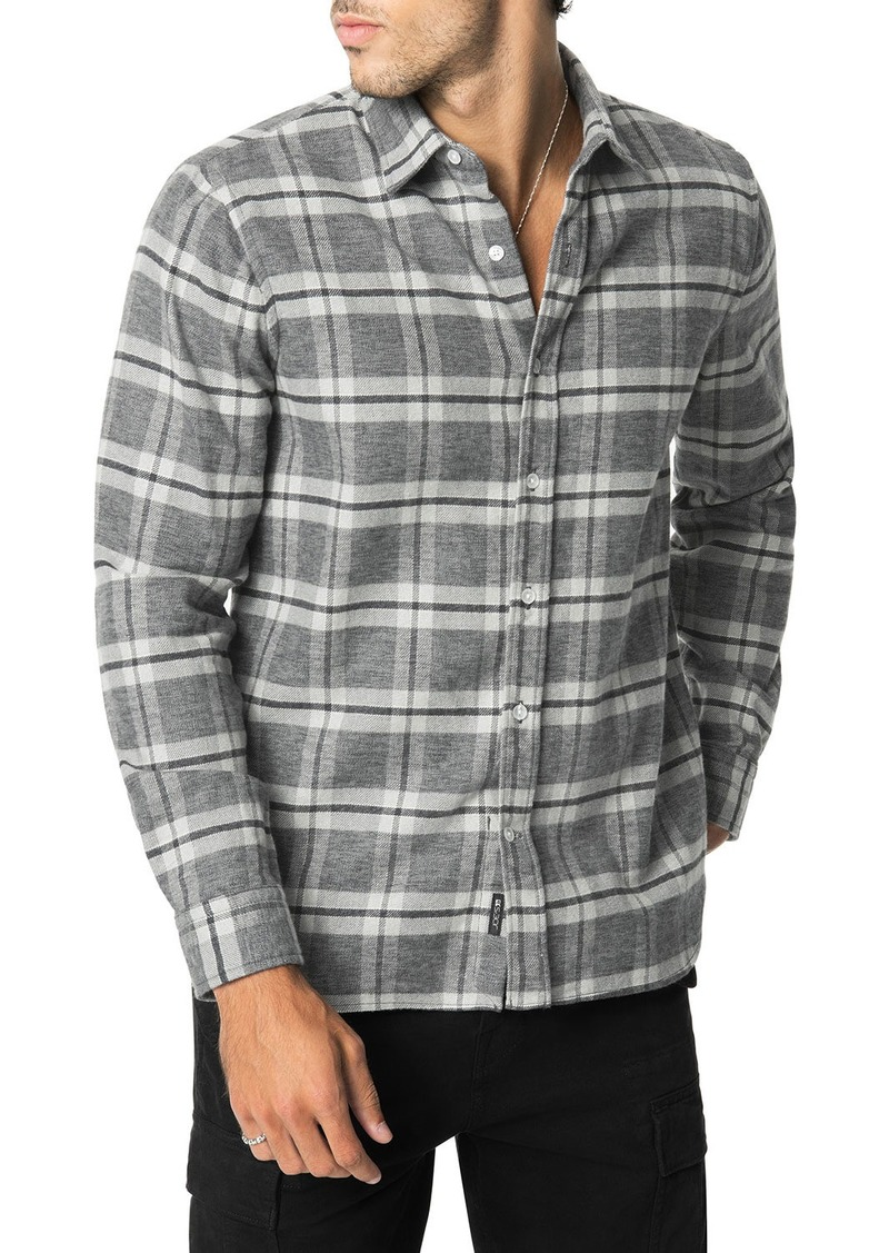 Joe's Jeans Men's Plaid Flannel Sport Shirt