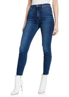 Joe's Jeans Mid-Rise Cut Hem Faded Skinny Jeans