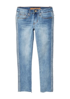 Joe's Jeans Mid Rise Denim Frayed Skinny Jeans (Big Girls)