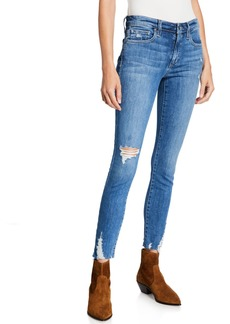 Joe's Jeans Mid-Rise Distressed Skinny Ankle Jeans