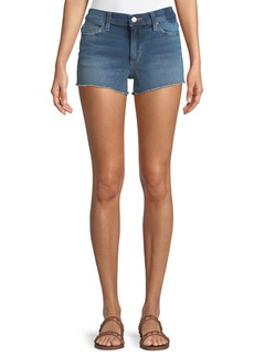 Joe's Jeans Mid-Rise Fray-Hem Denim Shorts