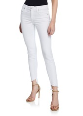 Joe's Jeans Mid-Rise Frayed Ankle Jeans