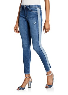 Joe's Jeans Mid-Rise Skinny Ankle Frayed Side Seam Jeans