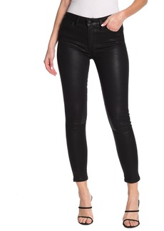 Joe's Jeans Coated Mid Rise Skinny Ankle Jeans