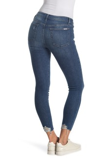 Joe's Jeans Mid-Rise Skinny Ankle Jeans With Destroyed Hem
