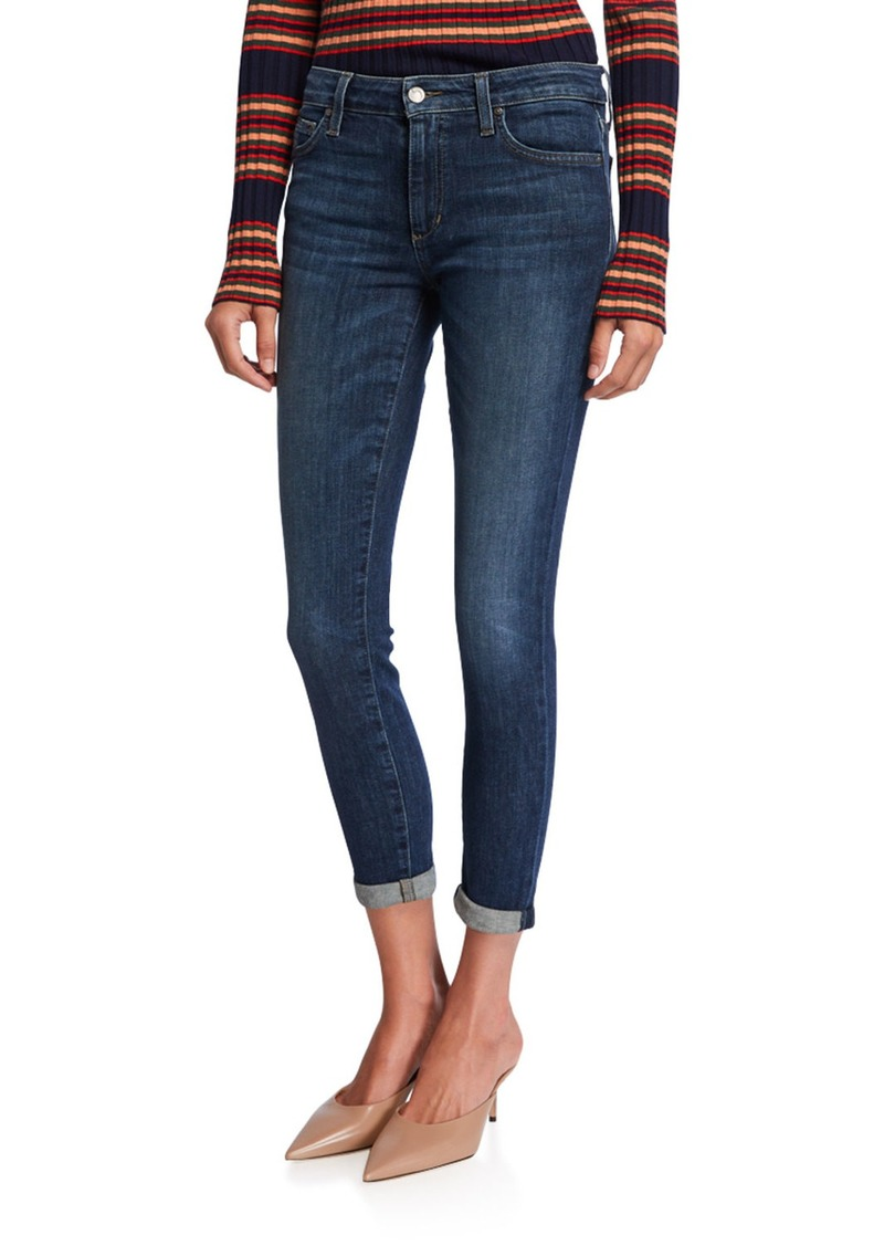 Joe's Jeans Mid-Rise Skinny Cropped Rolled Hem Jeans