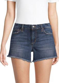 Nancy Frayed Cuff Denim Shorts