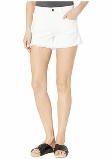 "Joe's Jeans Ozzie 4"" Shorts Fray Hem in White"
